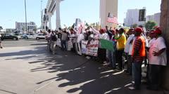 Taxi Drivers Protest, Las Vegas, April 2013 Stock Footage