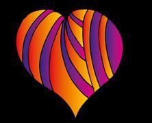 Tattoo tribal red heart vector art Stock Illustration