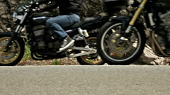 Motorbikes on the road, loop Stock Footage