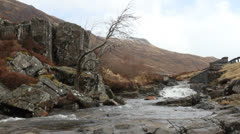 River Coe in Glencoe Scotland Stock Footage