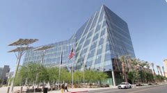 Las Vegas City Hall, Downtown Main Street Stock Footage