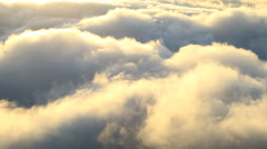 Mountain clouds on the coast Santo Antao, Cape Verde archipelago Stock Footage