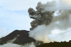 Stock Photo of Tungurahua Volcano Erupting On 5Th Of May 2013 Ecuador South America