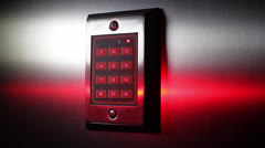Security Keypad | Tripped Alarm - stock footage