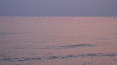 Beautiful horizon over water Stock Footage