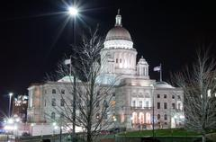 Rhode island state house in providence, rhode island. Stock Photos