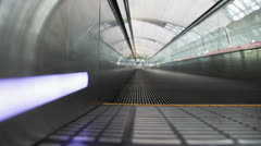 Moving Walkway in airport Stock Footage