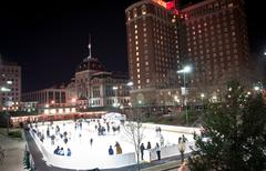 Stock Photo of providence on a cold december evening