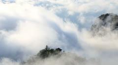 Mountain clouds on the coast Cape Verde archipelago Stock Footage
