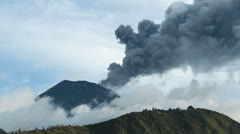Tungurahua volcano explosion on 5th of May 2013, Ecuador, South America - stock footage