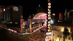 View of Fremont Street, Las Vegas Stock Footage