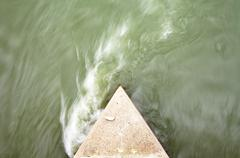 Turbulent water Stock Photos
