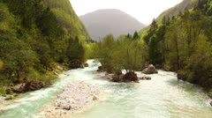 Beautiful emerald river stream Stock Footage