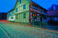 At night in thuringia village, germay Stock Photos