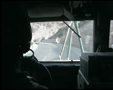 Stock Video Footage of Afghanistan Iraq humvee driver soldier.