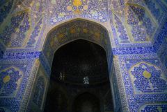 intricate persian mosaics - stock photo