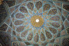 mosaics on ceiling - stock photo