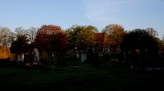 Cemetery. Graveyard timelapse - stock footage