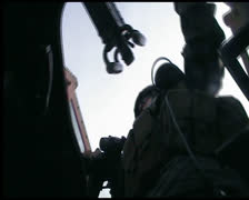 Stock Video Footage of Afghanistan Iraq humvee driver soldier