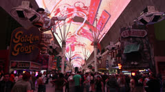 Light Show at Fremont Street Experience, Las Vegas Stock Footage