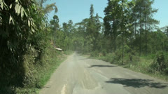Jungle landscape traffic at Bali Stock Footage
