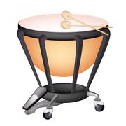 A Beautiful Classical Timpani on White Background - stock illustration