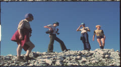 Vintage 8 mm film: Family vacation, Alps, Germany, 1970s Stock Footage