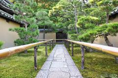 Approach road to the temple, koto-in a sub-temple of daitoku-ji Stock Photos