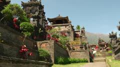 Hindu mother temple Besakih at Bali Stock Footage