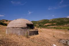 The old bunker in albania Stock Photos