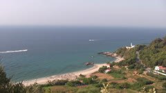Potami beach, Samos island Greece Stock Footage