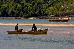 madagascar nosy be  lagoon hill - stock photo