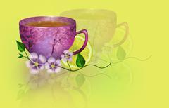 Illustration sunny breakfast Stock Illustration