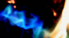 Abstract blue fire Stock Footage