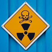 Deadly radiation warning sign Stock Illustration