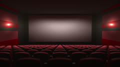 movie theatre with a green screen - stock footage