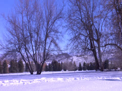 A duo fight in the snow tripod, in Snow Mountain Stock Footage