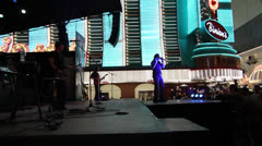 Free Concert at Fremont Street Experience, Las Vegas Stock Footage