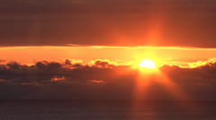 Sunrise Time Lapse on Lake Michigan Stock Footage