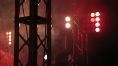 Concert lights Stock Footage
