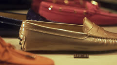 Moccasins shoes - stock footage