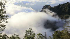 Stock Video Footage of Mountain clouds on the coast Santo Antao, Cape Verde archipelago