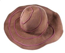 Broad brim felt hat Stock Photos