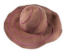 broad brim felt hat - stock photo