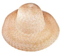 Country straw broad brim hat Stock Photos