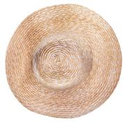 Top view of country straw broad brim hat Stock Photos