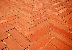 Orage brick in thailand Stock Photos