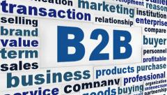 B2B business words concept Stock Footage