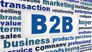 Stock Video Footage of B2B business words concept