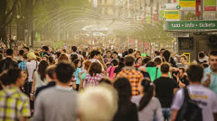 EDITORIAL people crowd, 4X SLOW MOTION, Full HD 1080p - stock footage